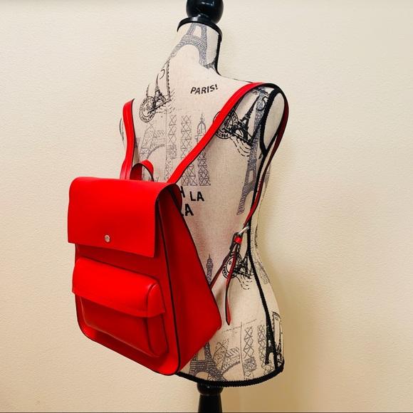 Zara Handbags - NWT🎒Zara Red Backpack